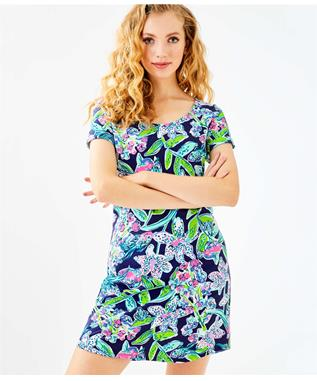 UPF 50+ TAMMY DRESS 410 BRIGHT NAVY SWAY THIS WAY