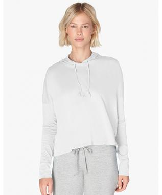BEACH WORN CROPPED PULLOVER WHITE