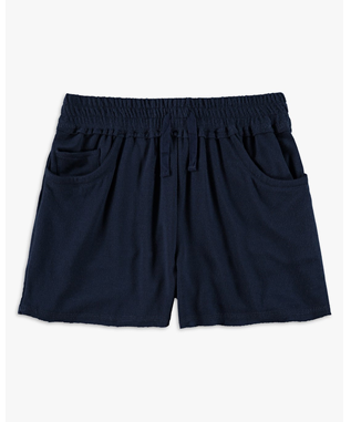 GIRLS SUPER SOFT FRENCH TERRY SHORT  NAVY