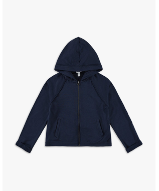 GIRLS SUPER SOFT FRENCH TERRY HOODIE NAVY