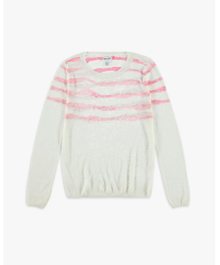 GIRLS LAS OLAS SWEATER OFF WHITE