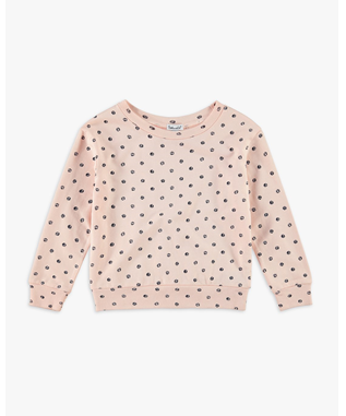 GIRLS DOT PRINT SWEATER CLOUD PINK
