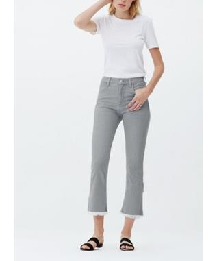 DREW FRAY HIGH RISE CROP JEAN ASH