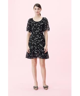 ALESSANDRA EMBROIDERED DRESS BLACK COMBO
