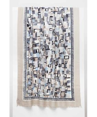 POP SQUARES PRINT SCARF BOARDWALK MULTI