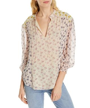 TYLA SILK FLORAL TOP MULTI