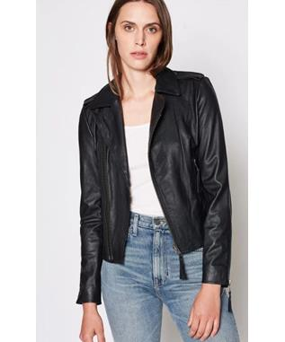 AILEY LEATHER JACKET  CAVIAR