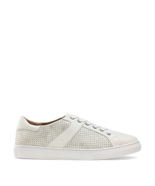 WOMENS LINDSEY LACE UP SNEAKER IVORY