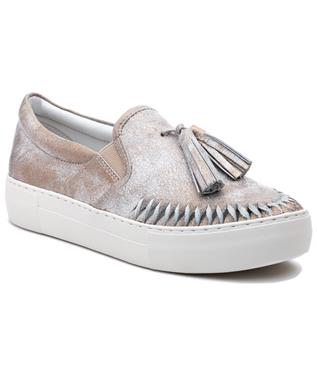 AZTEC TASSEL SLIP ON SNEAKER BRONZE METALLIC