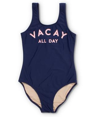 VACAY ALL DAY SWIMSUIT NAVY/PINK