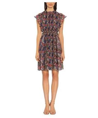 AMORA DRESS MONTPELLIER GARDEN PRINT
