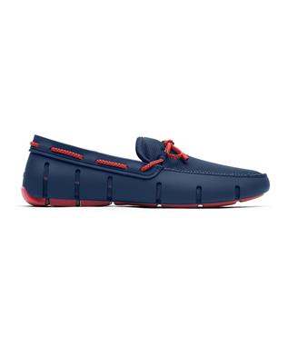 BRAIDED LACE LOAFER NAVY/RED ALERT