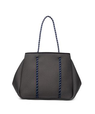 SPORTY SPICE NEOPRENE TOTE CHARCOAL COBALT