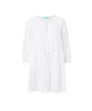 ASHLEY EMBROIDERED COVER-UP WHITE