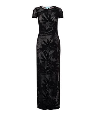 FRAN TSHIRT MAXI DRESS COVER UP BLACK