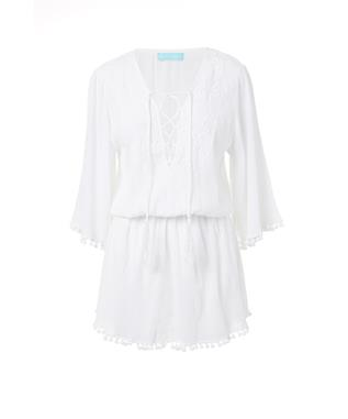 KIAH EMBROIDERED COVER UP WHITE