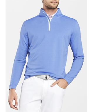CROWN SPORT PERTH MELANGE QUARTER ZIP VESSEL