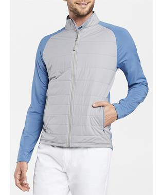 CROWN SPORT MERGE STRETCH FULL ZIP HYBRID JACKET GALE GREY