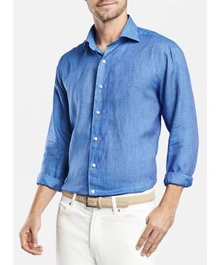 COLLECTION SUMMERTIME LINEN SPORT SHIRT BALEN BLUE