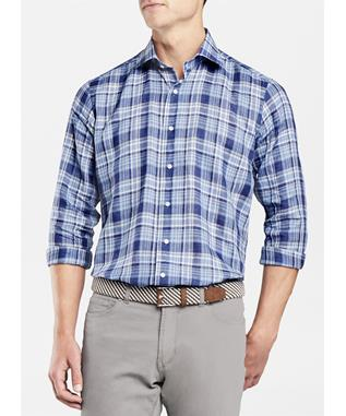 COLLECTION SURFRIDER PLAID SPORT SHIRT BARCHETTA BLUE