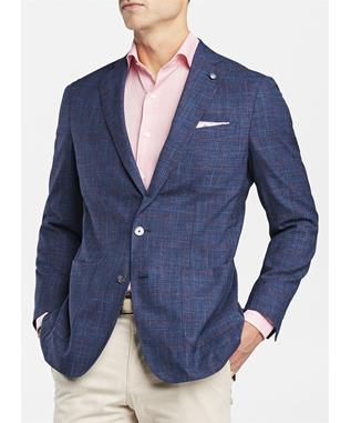 COLLECTION WAIMEA WINDOWPANE PLAID SOFT JACKET STARLIGHT BLUE