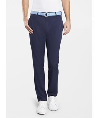 CROWN CRAFTED STRETCH FLAT FRONT PANT NAVY