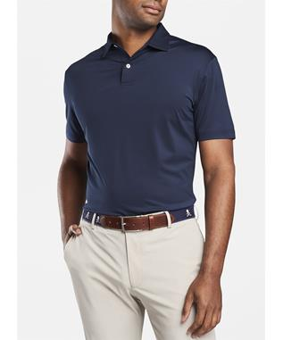 CROWN CRAFTED SOLID STRETCH JERSEY POLO NAVY