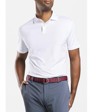 CROWN CRAFTED SOLID STRETCH JERSEY POLO WHITE