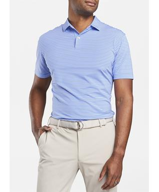 CROWN CRAFTED COLTRANE STRIPE PERFORMANCE POLO VESSEL