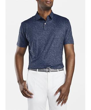 CROWN CRAFTED DIZZY PRINTED FLORAL PERFORMANCE POLO NAVY