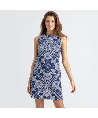 KAIMANA BANDANA SHIFT DRESS NAVY