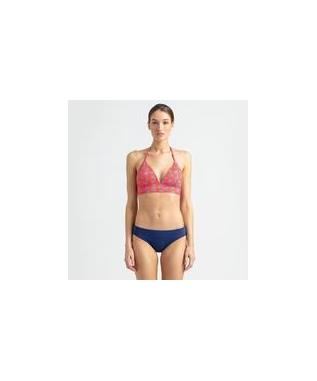 MY MAUI PALM HALTER TIE TOP RED
