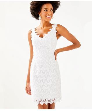 WOMENS REEVE SHIFT DRESS 115 RESORT WHITE PAPILLION LAC