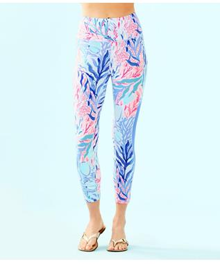 "WOMENS LUXLETIC 24"" HIGH RISE WEEKENDER MIDI LEGGING 442 CREW BLUE KALEIDOSCOPE"