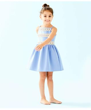 GIRLS ELIZE DRESS 469-BLUE PERI