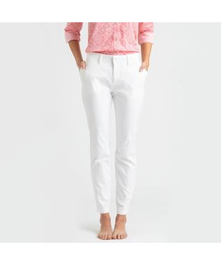 STRETCH TWILL ANKLE PANT WHITE