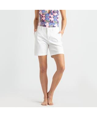 STRETCH TWILL SHORT WHITE