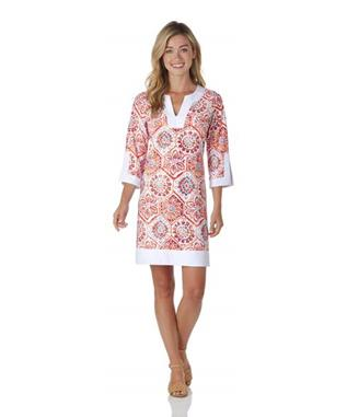 Holly Dress  Jude Cloth - Mosaic Tile MOSAIC TILE CORAL