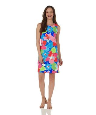 BETH DRESS HIBISCUS FLORAL MULTI