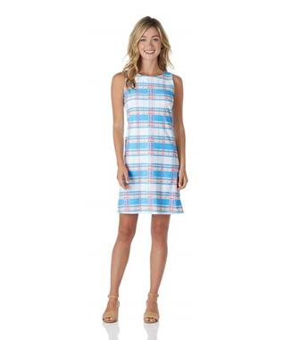 Beth Dress  Jude Cloth - Summer Plaid SUMMER PLAID AQUA