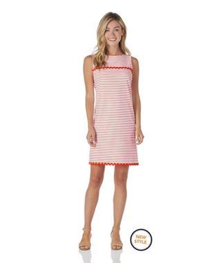 Hattie Dress  Jude Cloth - Summer Stripe SUMMER STRIPE CORAL