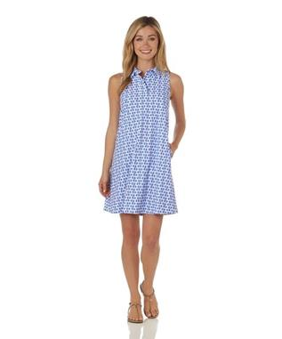 Harlee Dress  Jude Cloth - Chain Link CHAIN LINK PERIWINKLE