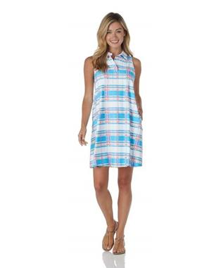 Harlee Dress  Jude Cloth - Summer Plaid SUMMER PLAID AQUA
