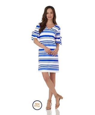 Cory Dress  Jude Cloth - Regatta Stripe REGATTA STRIPE BLUE