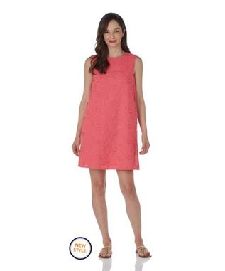Melody Dress  Embroidery - Coral CORAL