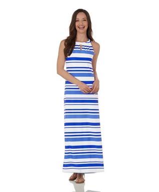 Lisette Dress  Jude Cloth - Regatta Stripe REGATTA STRIPE BLUE