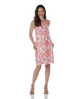 Corinne Dress  Jude Cloth - Mosaic Tile MOSAIC TILE CORAL
