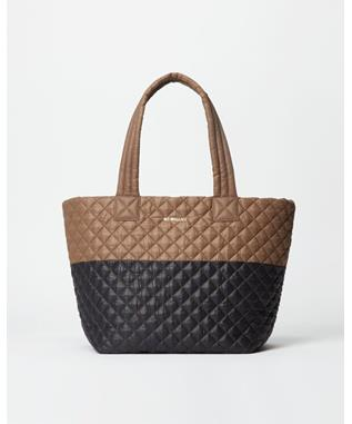MEDIUM METRO TOTE  FAWN/BLACK