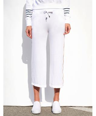 FLARE TRIM SWEATS WHITE