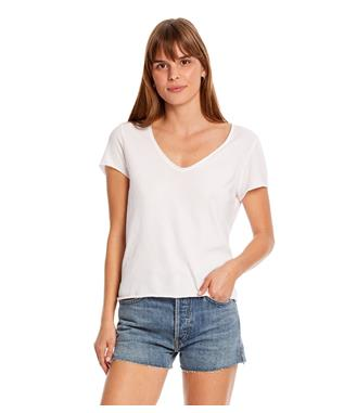 JADE SOFT V-NECK TEE WHITE